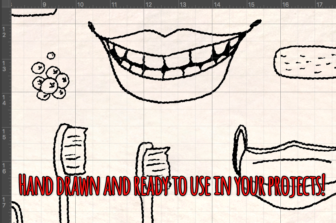 77 Dental and Dentist Vector Sketch Graphics example image 3