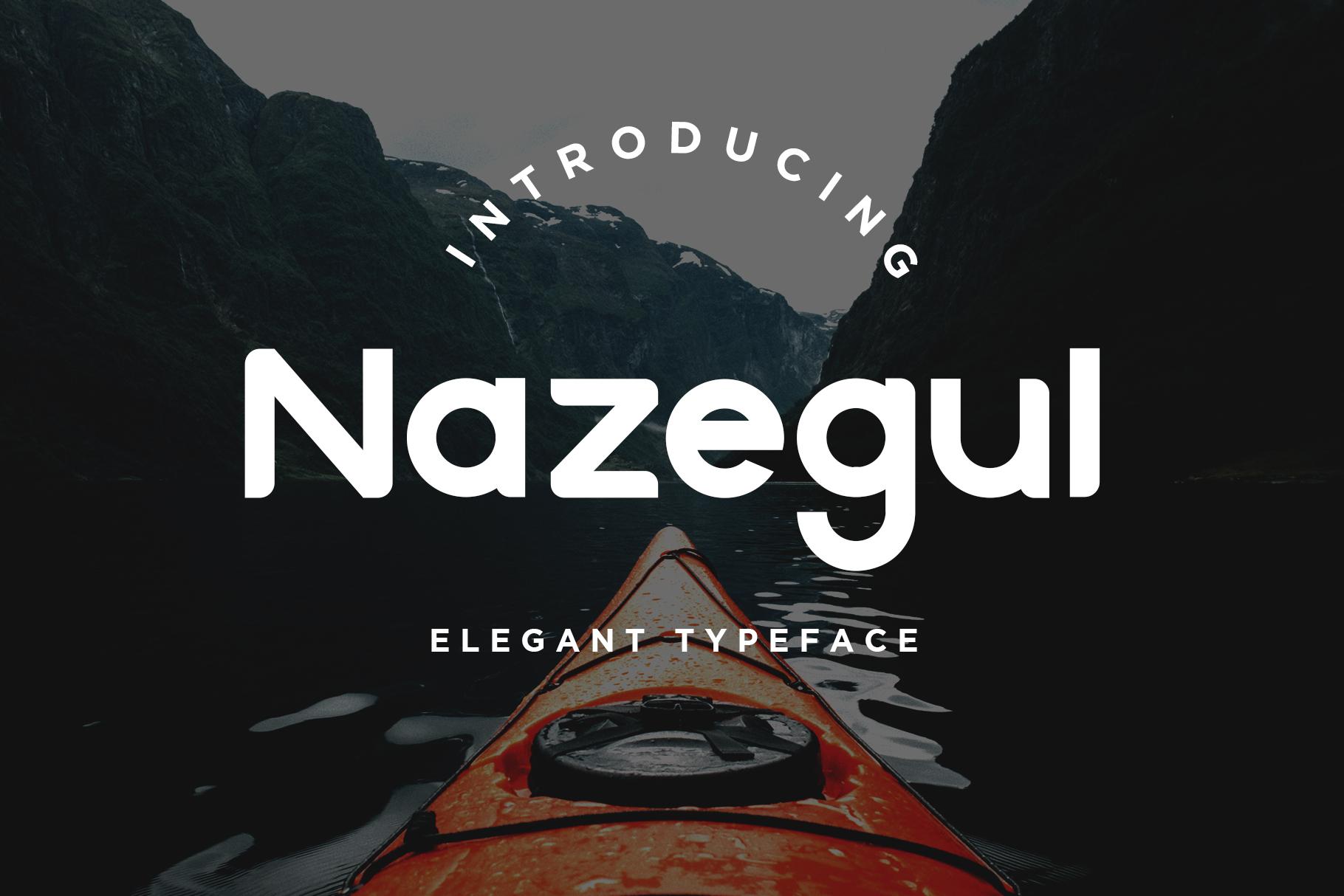 Nazegul - Sans Serif Fonts example image 1