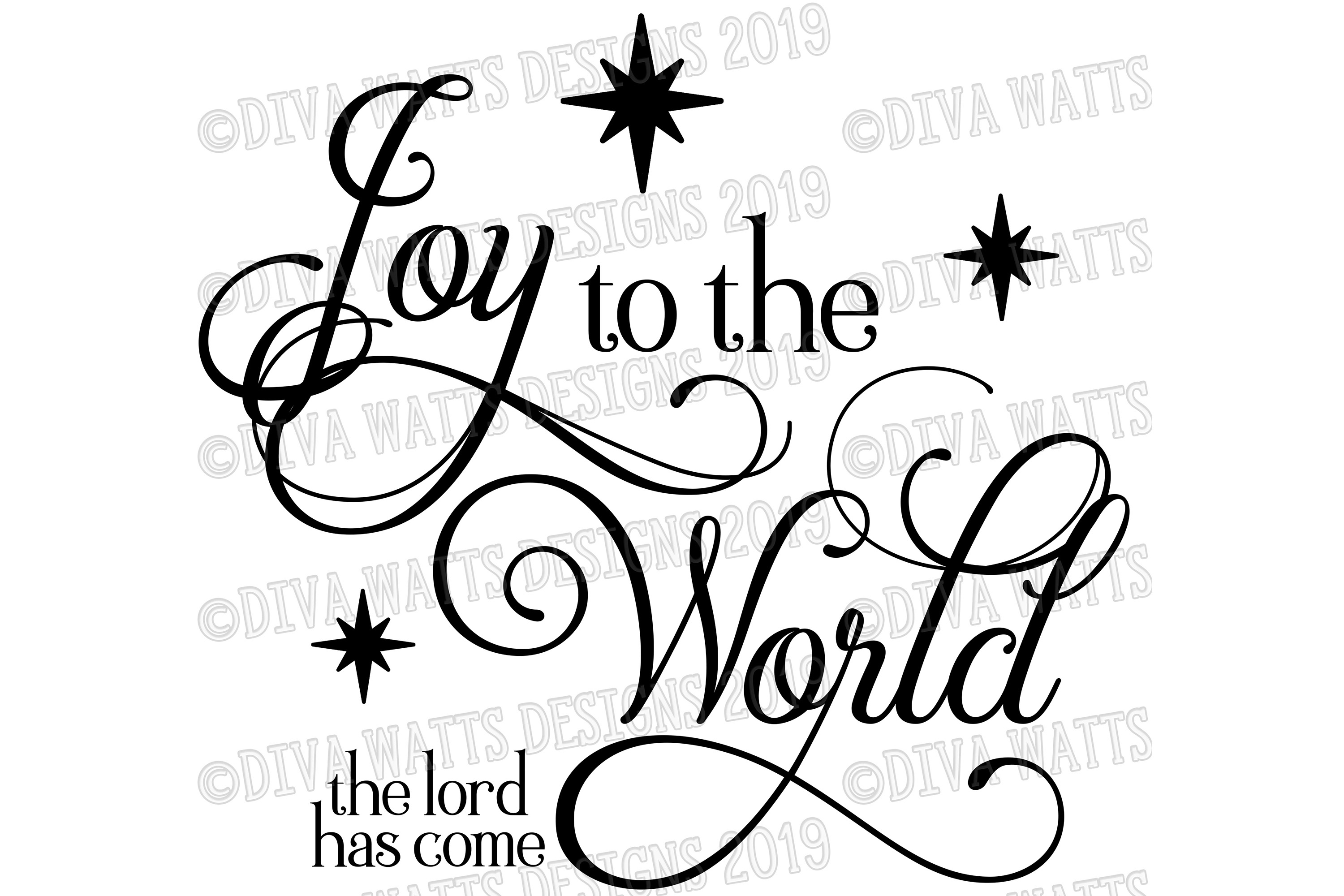 Joy To The World The Lord Has Come Christmas Jesus Cut File example image 2