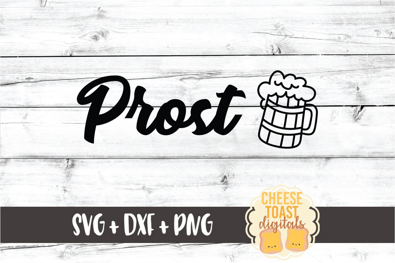 Prost - Oktoberfest SVG PNG DXF Cut File example image 2