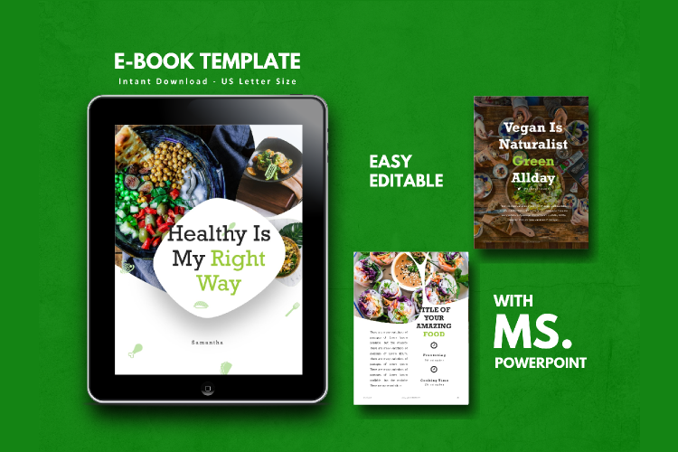 Recipe eBook Template - Vegan Recipe Theme example image 1