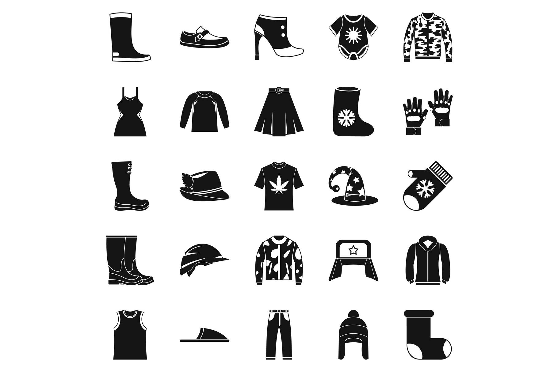 Purchase of accessories icons set, simple style example image 1