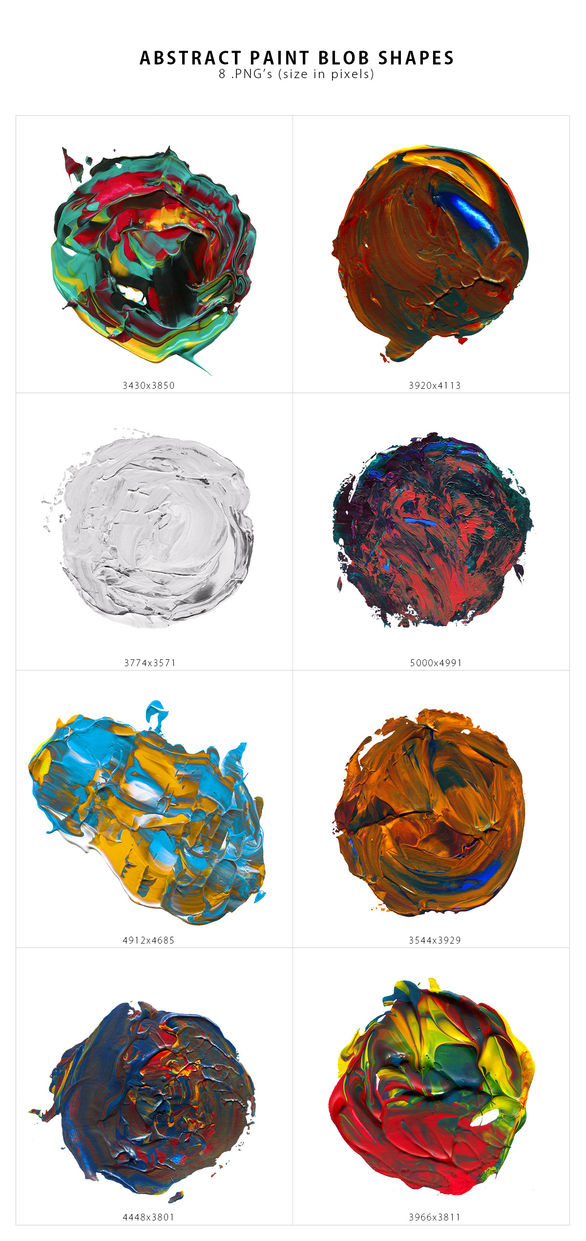 Abstract Paint Shapes example image 5