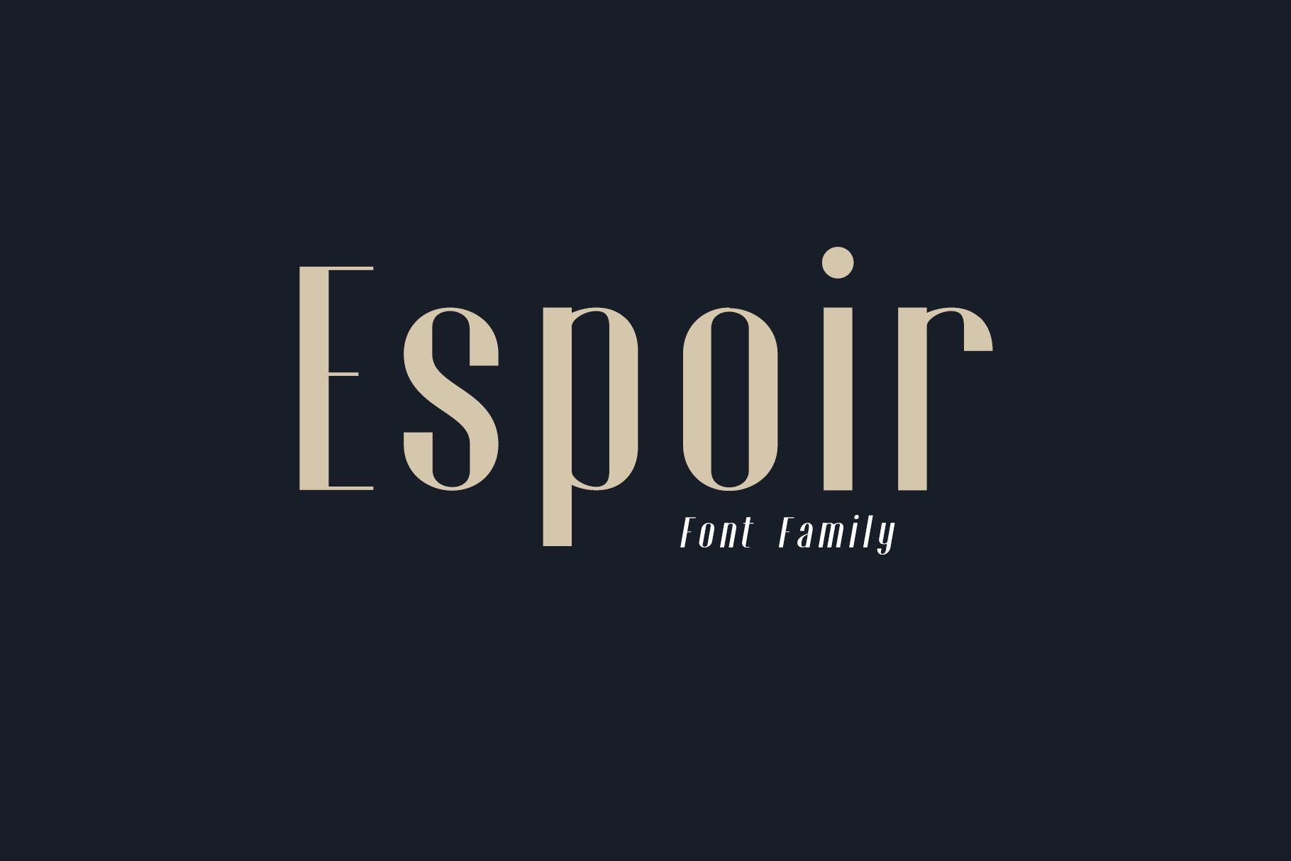 Espoir Font Family example image 1