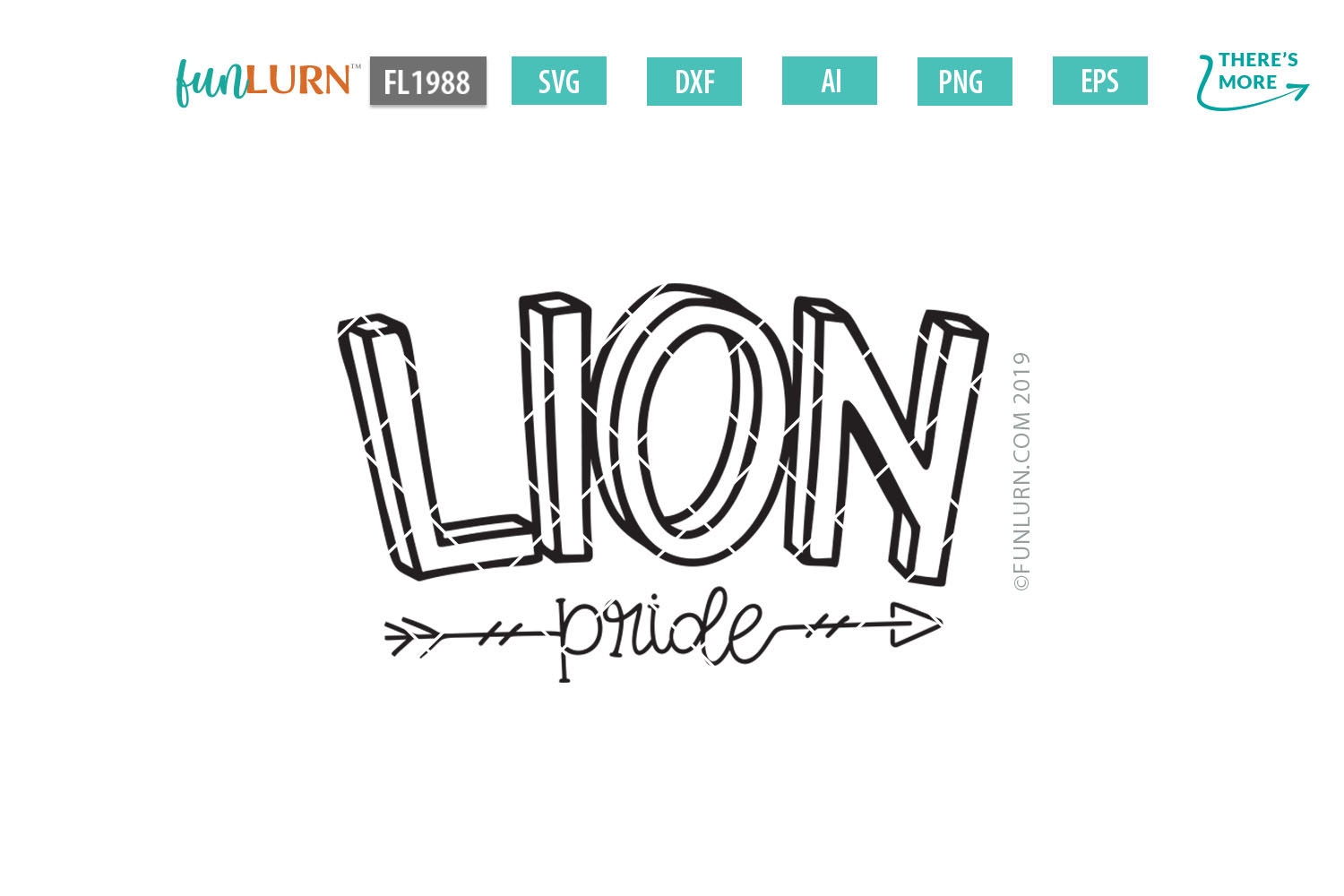 Lion Pride Team SVG Cut File example image 2