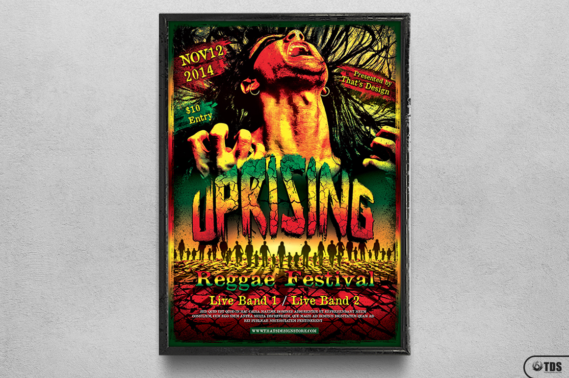 Reggae Uprising Flyer Template example image 6
