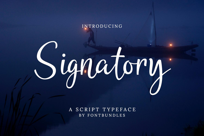 Signatory example image 1