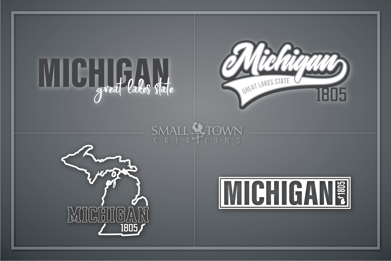 Michigan, Great Lake States - slogan, PRINT, CUT & DESIGN example image 1