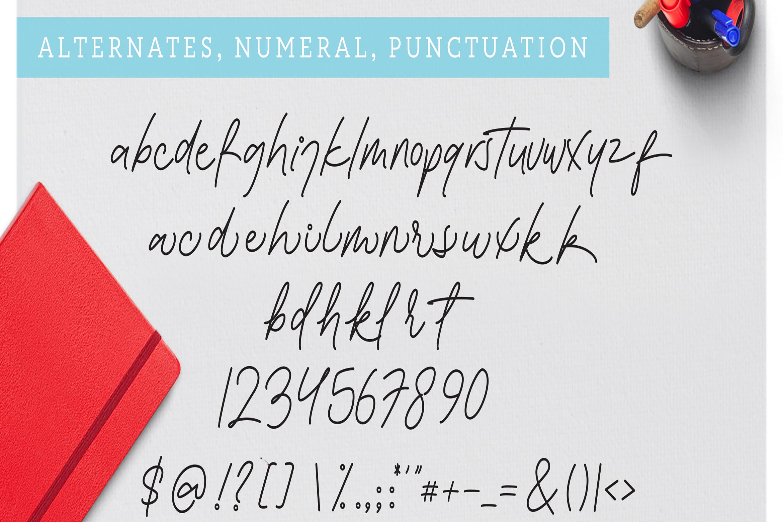Bessita Handwriting - Script example image 10