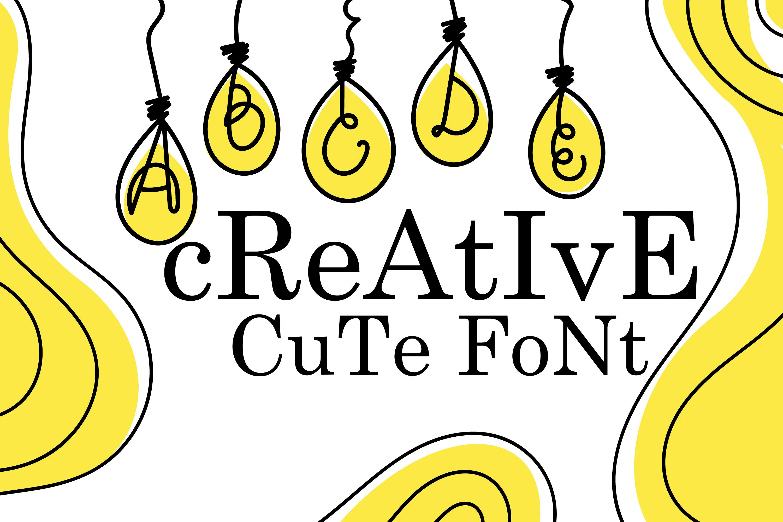 Bulb Font - A Cute Hanging Bulb Font example image 2
