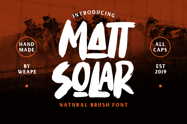 Mattsolar - Brush Font example image 1