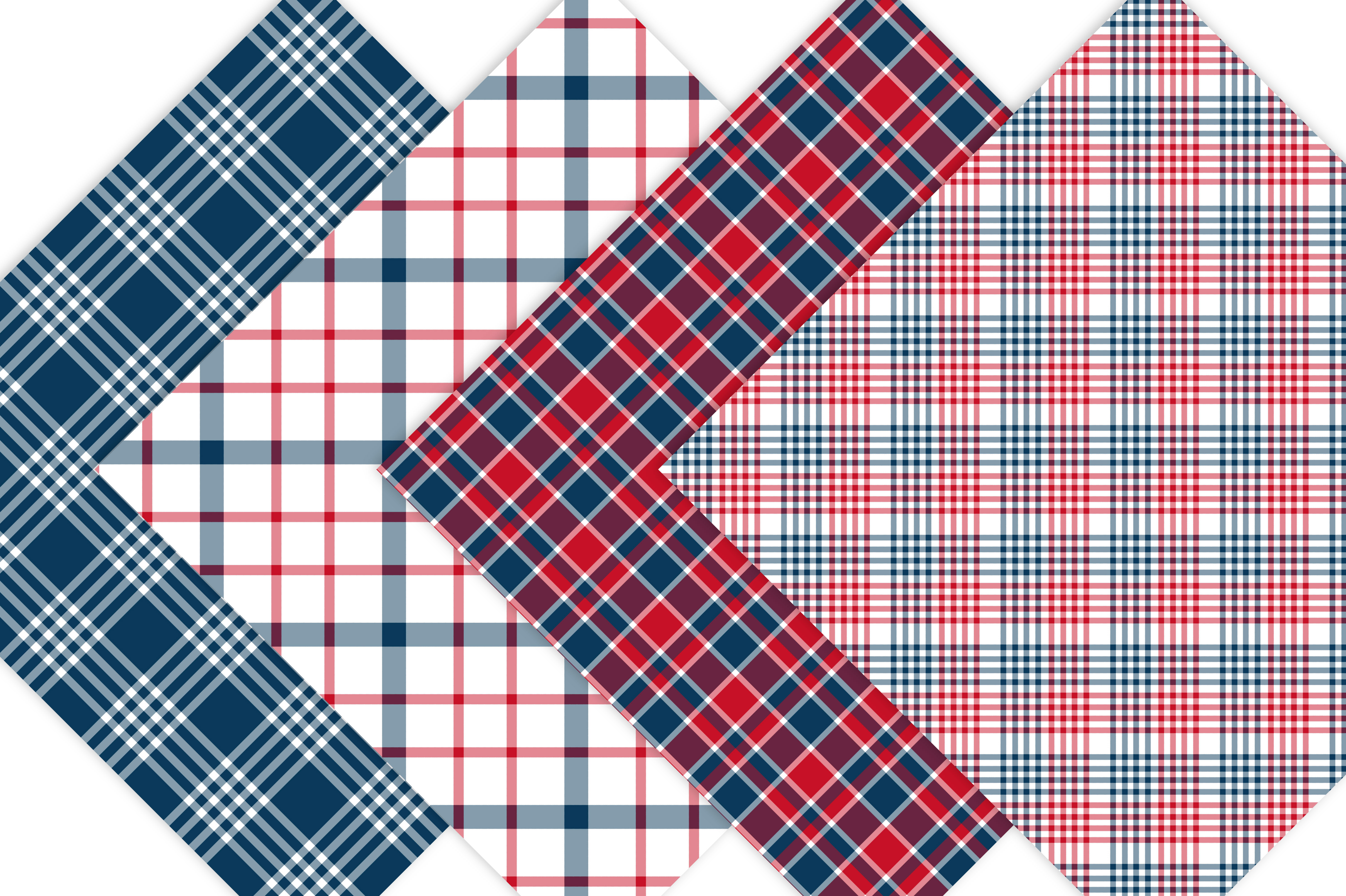 Red White and Blue Plaid Patterns example image 2