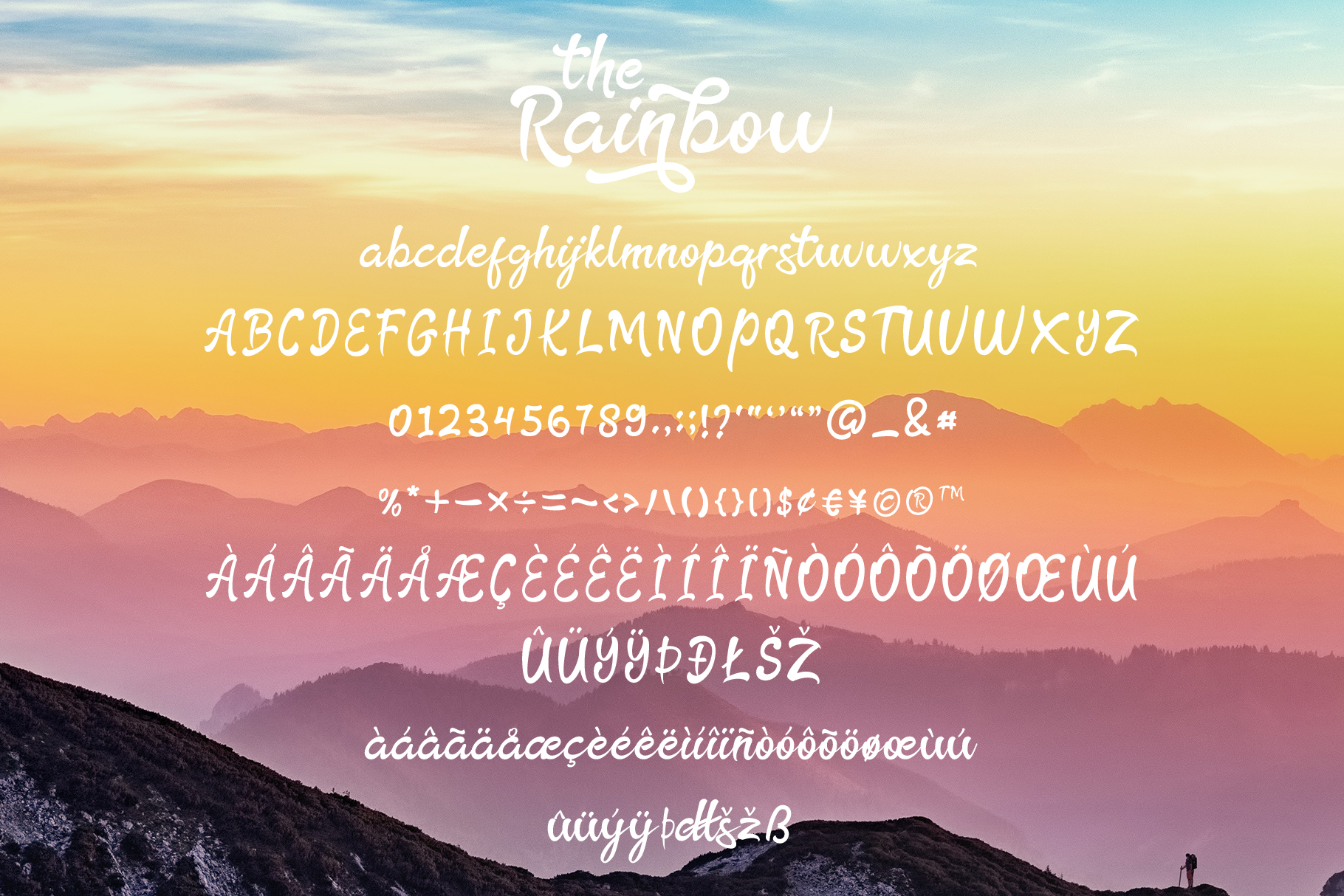 The Rainbow - modern calligraphy font example image 10