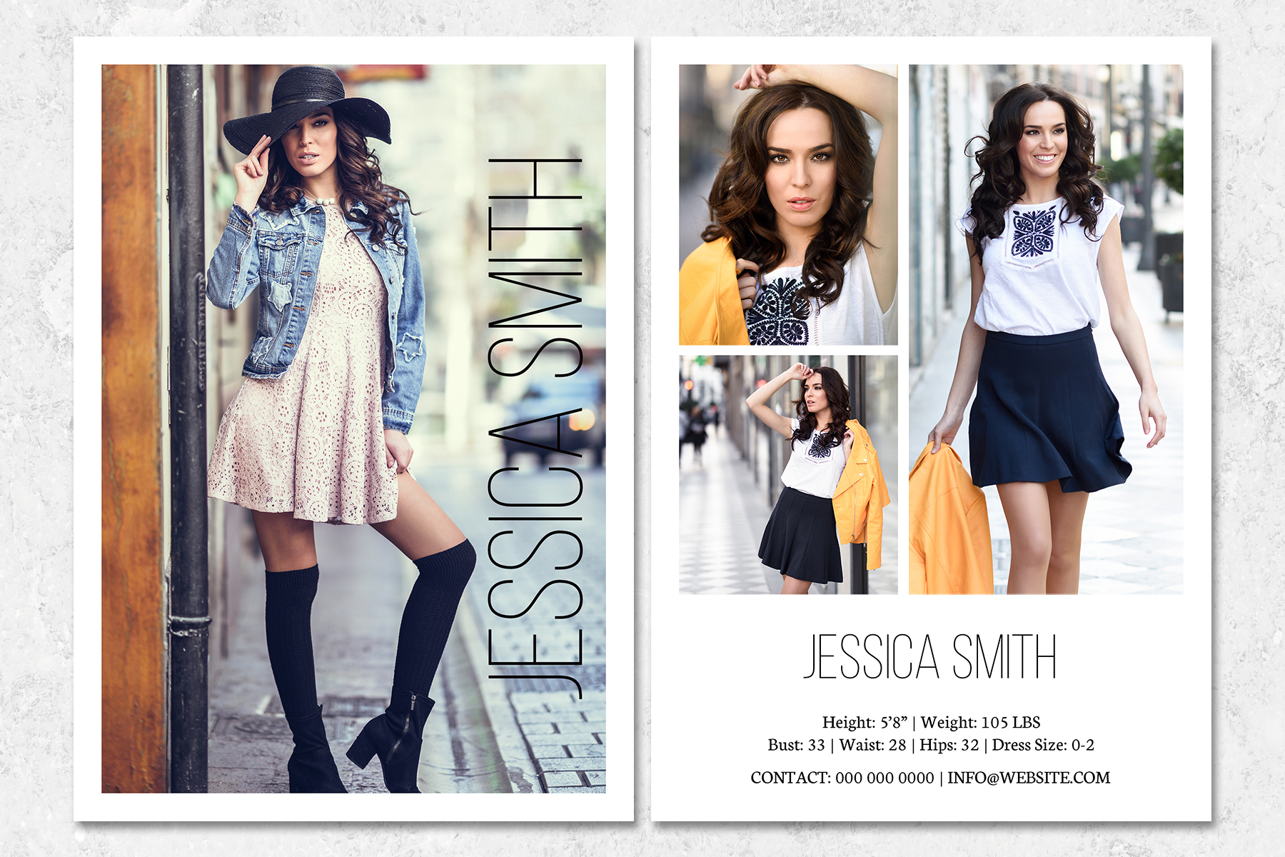 Comp Card Template | Fashion Model Comp Card Template