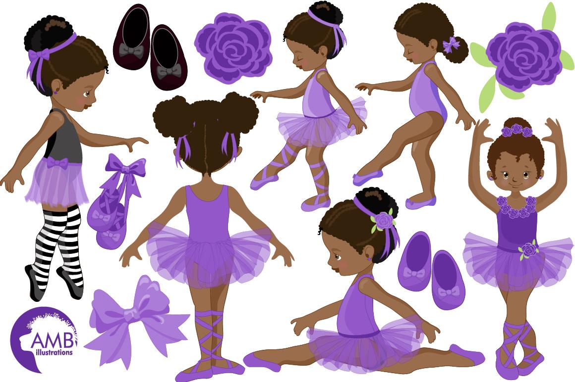 Ballerinas in purple clipart, graphics illustration AMB-1947 example image 4