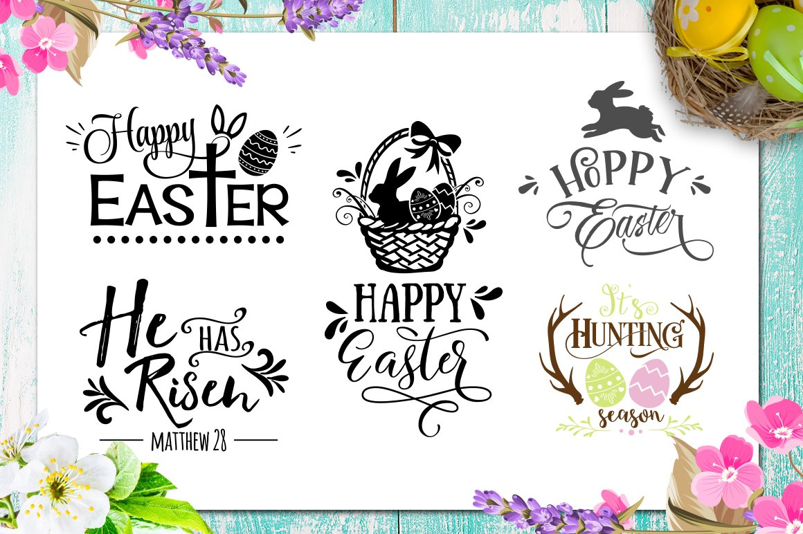 Easter Bundle - 30 Easter SVG files Bundle Easter SVG file example image 5
