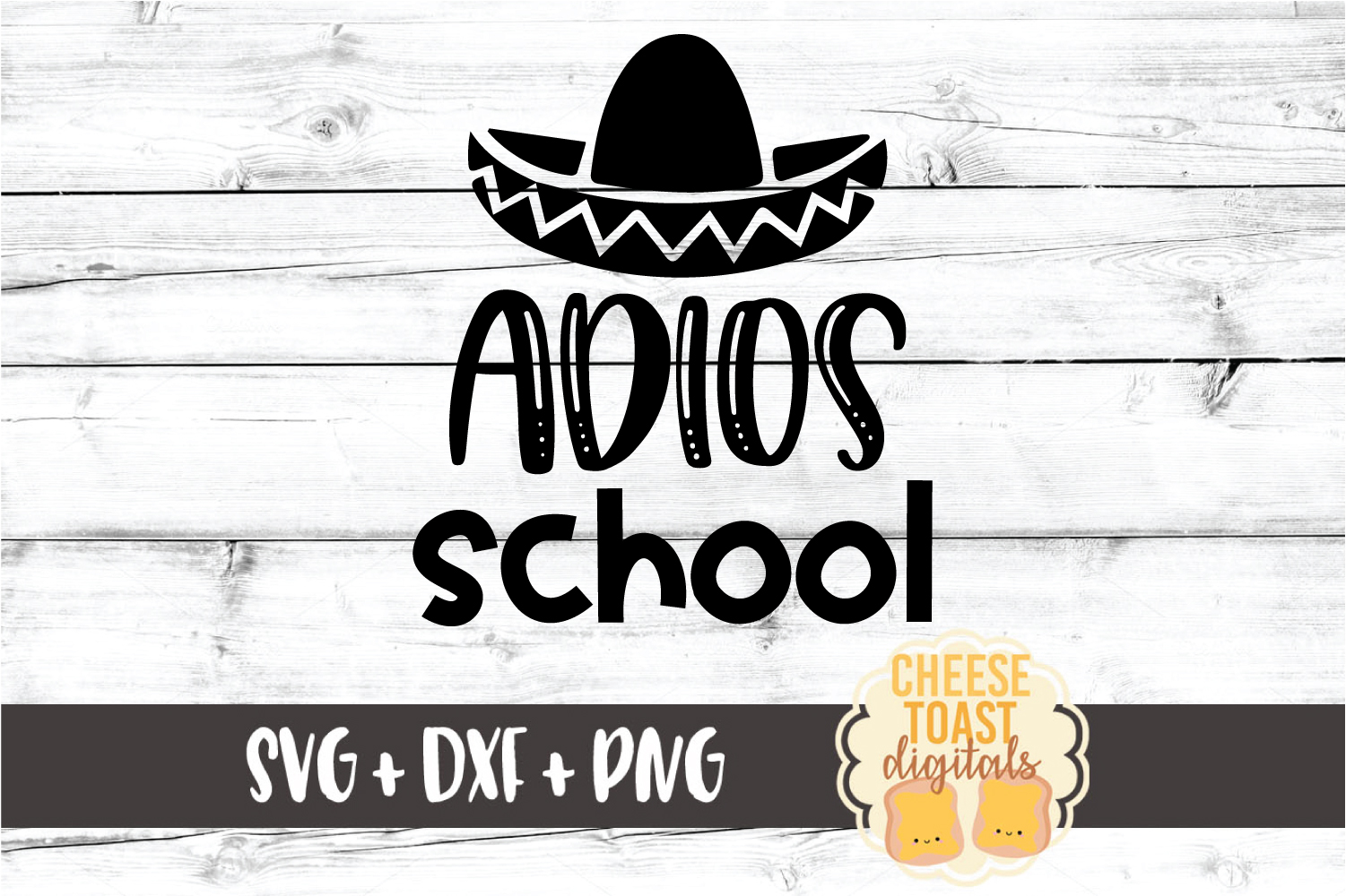 Adios School - Last Day of School SVG PNG DXF Cut Files example image 2