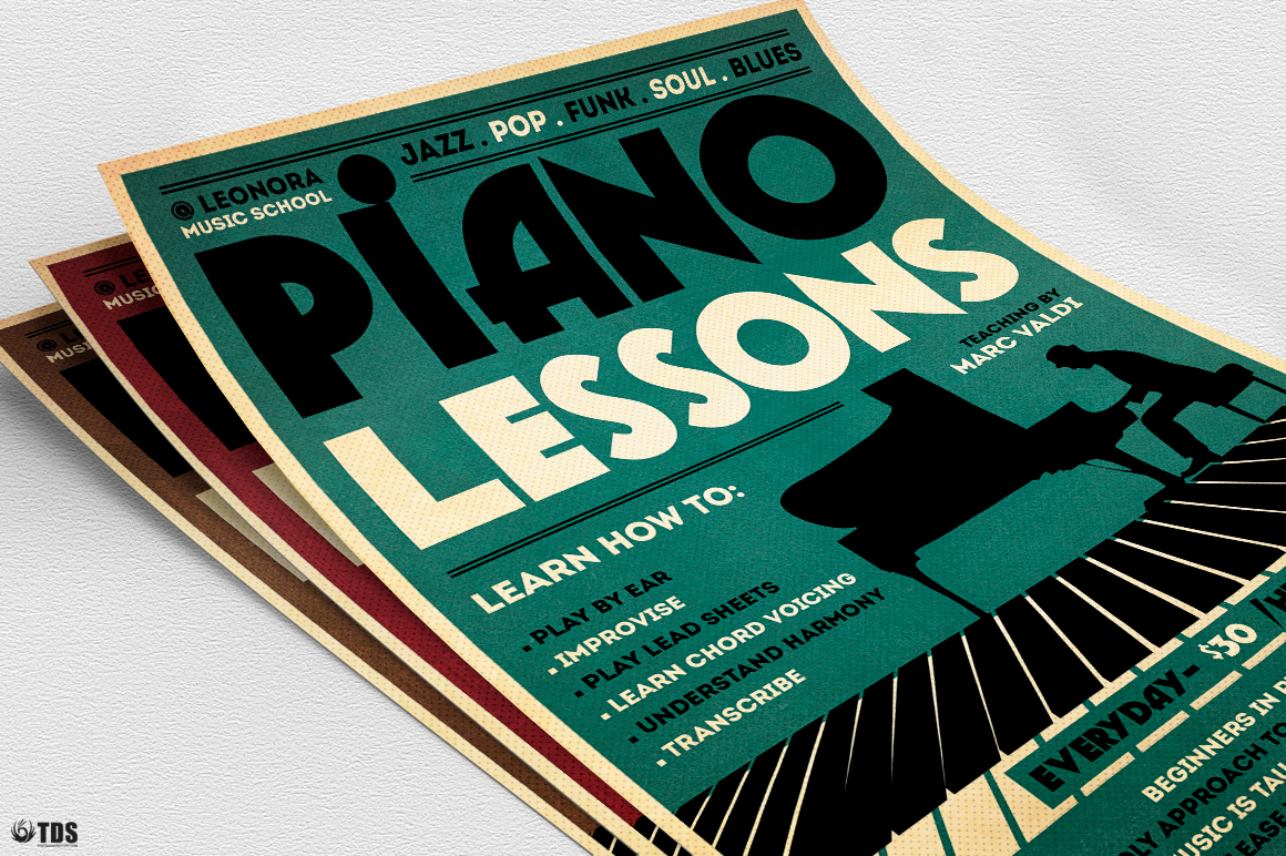 Piano Lessons Flyer Template example image 8