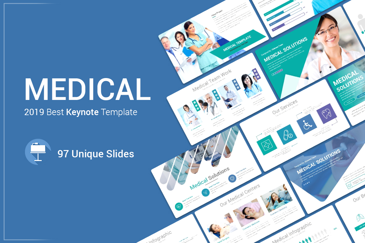 Medical Keynote Template Solutions example image 1