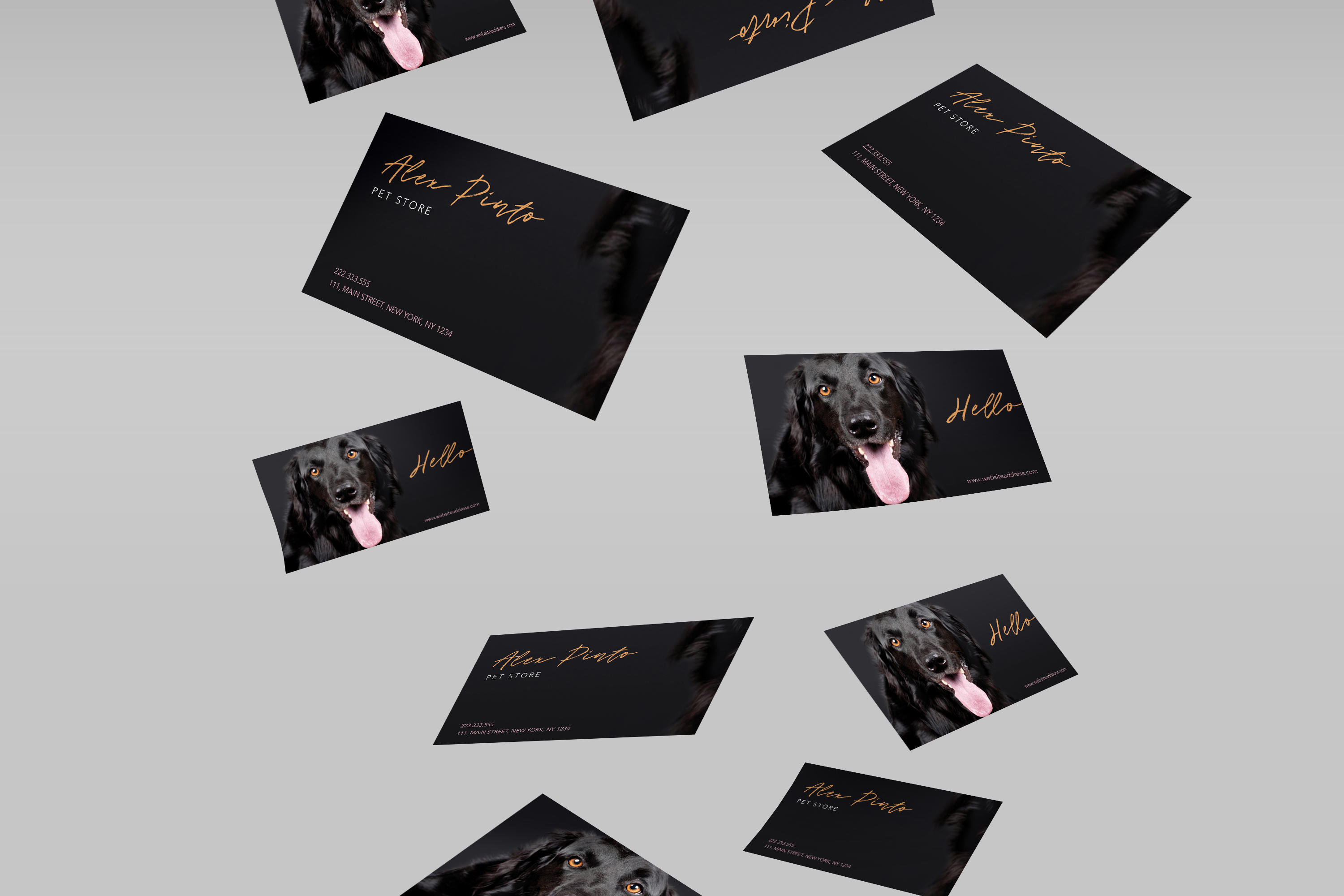 Dog animal lovers care business card example image 2