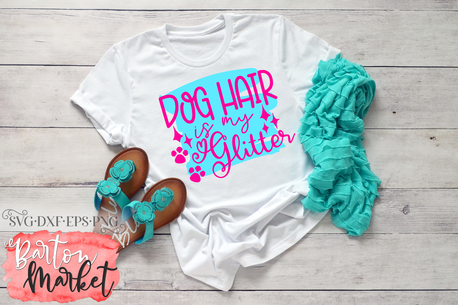 Dog Hair Is My Glitter SVG DXF EPS PNG example image 2