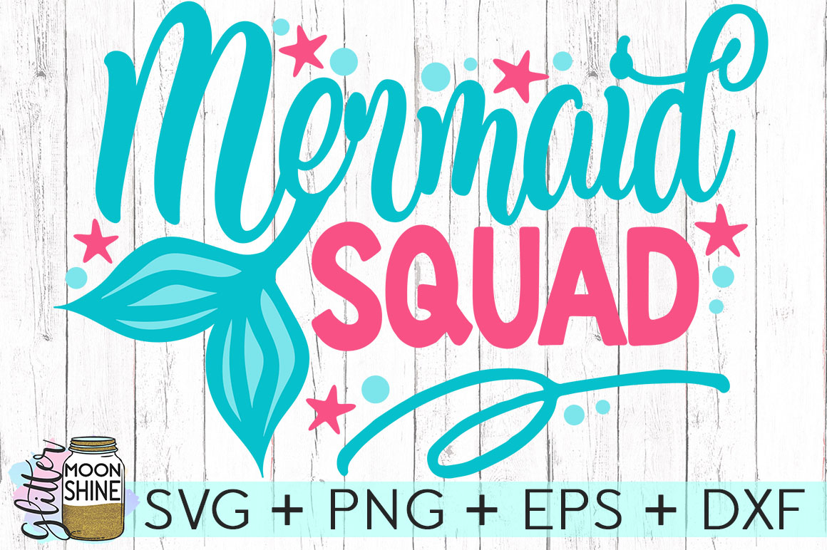 Big Mermaid Bundle of 14 SVG DXF PNG EPS Cutting Files example image 8