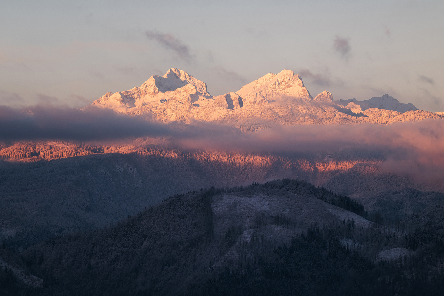 Winter morning in the Julian Alps example image 1
