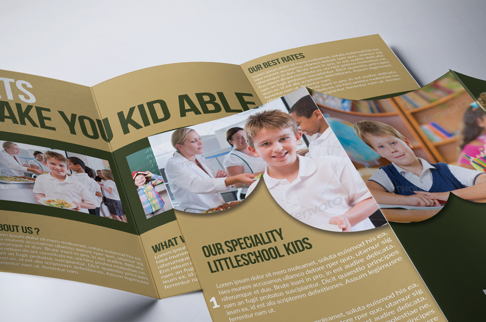 Kids Education Flyer Trifold Brochure example image 2