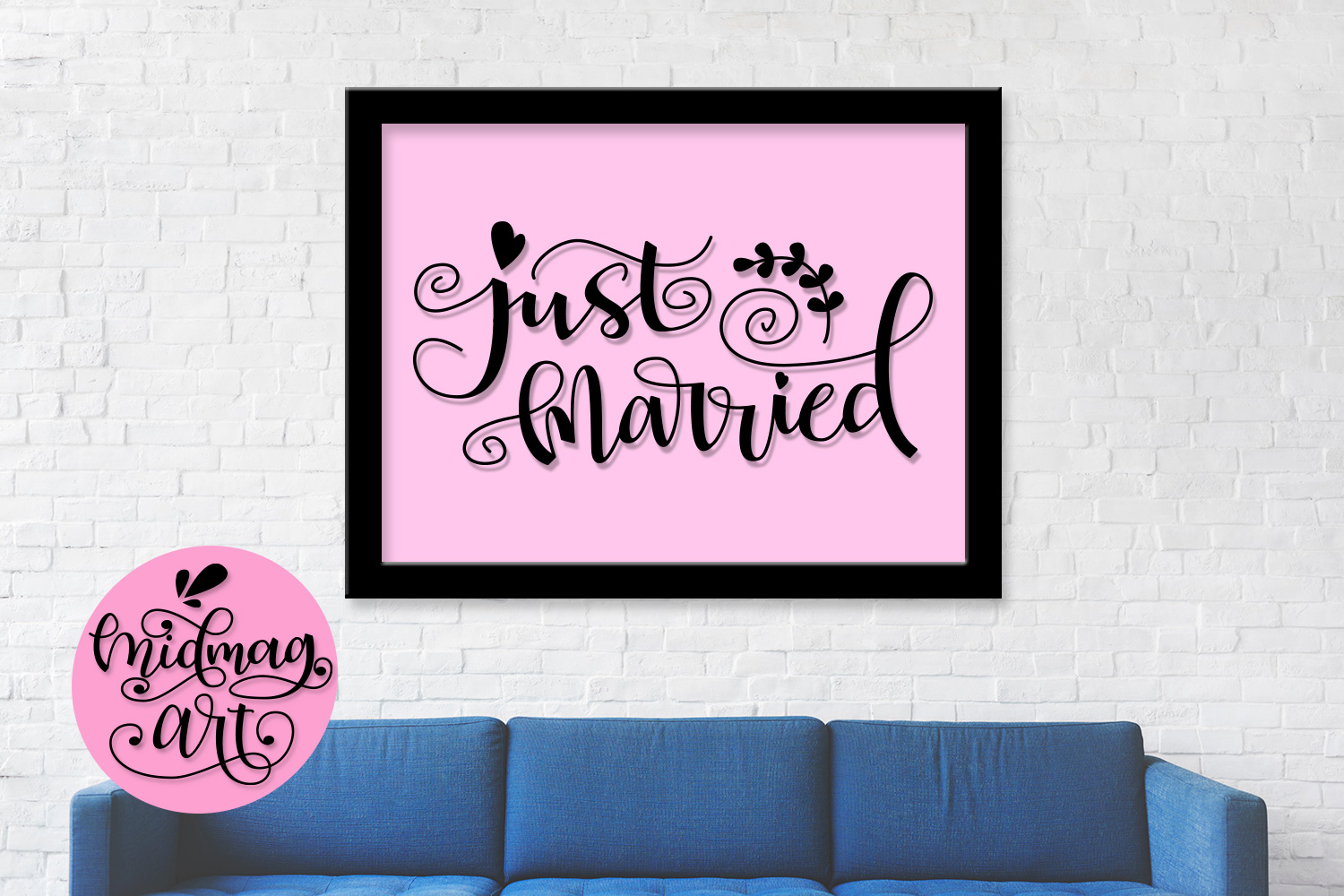 Just married svg, png, jpeg, eps and dxf example image 3