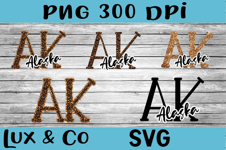 Alaska AK State Leopard Bundle example image 1