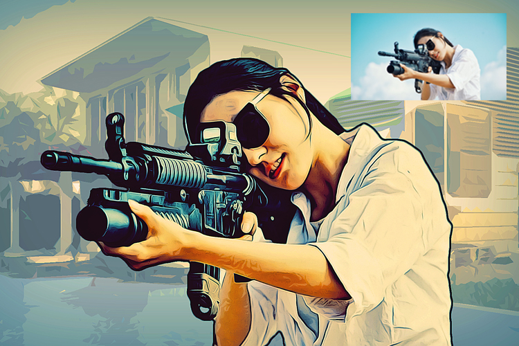 Grand Theft Art Photoshop Action example image 11