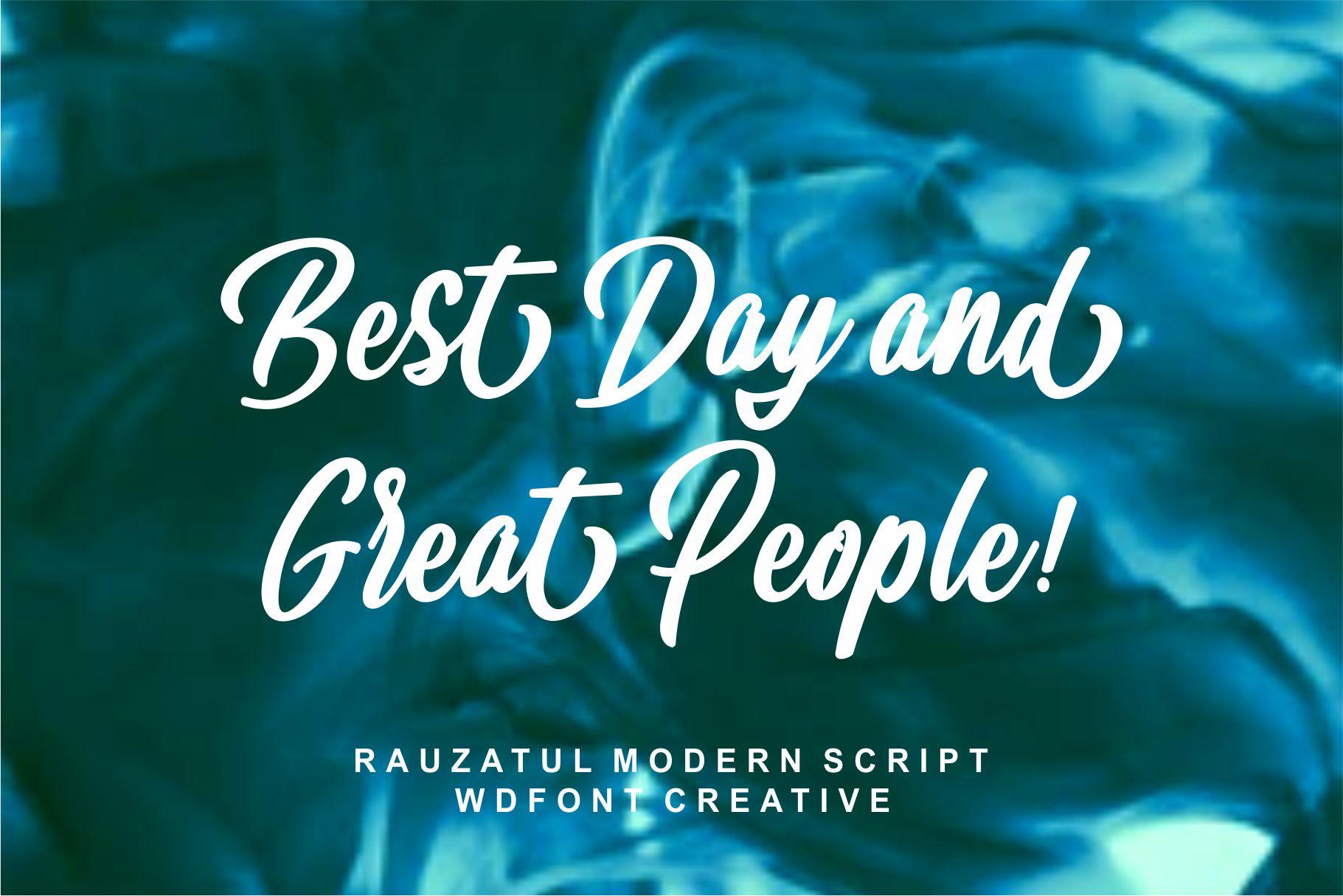 Rauzatul Script | Modern Stylish Font example image 2