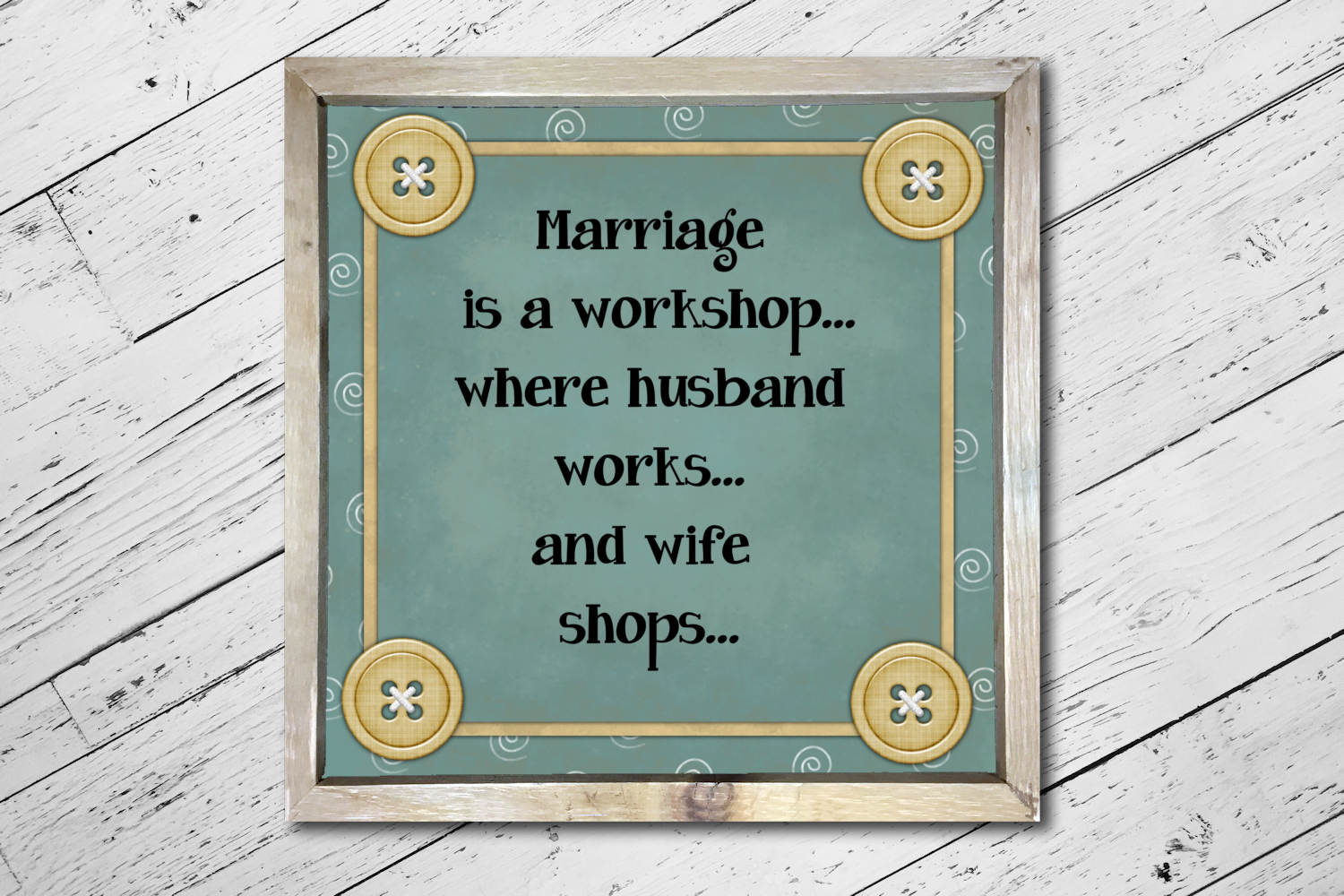 Marriage Workshop Square Print example image 3