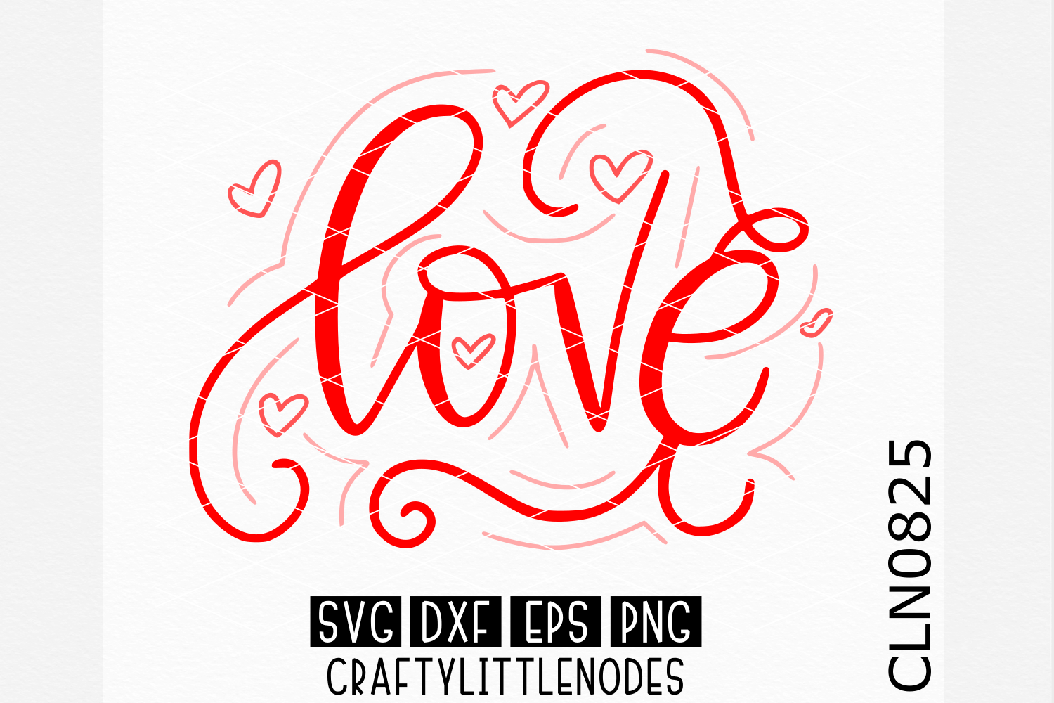 Hand Lettered- Love  example image 1