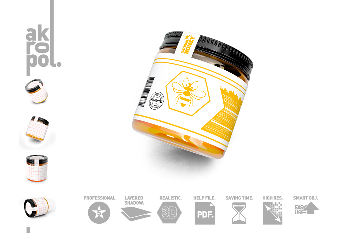 Honey Jar Bottle Mockup example image 4