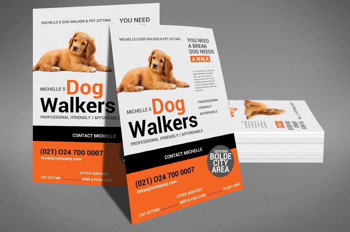 Dog Walker Flyer Template example image 3