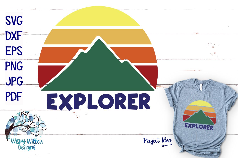 Explorer SVG | Mountain Sunrise SVG Cut File example image 1
