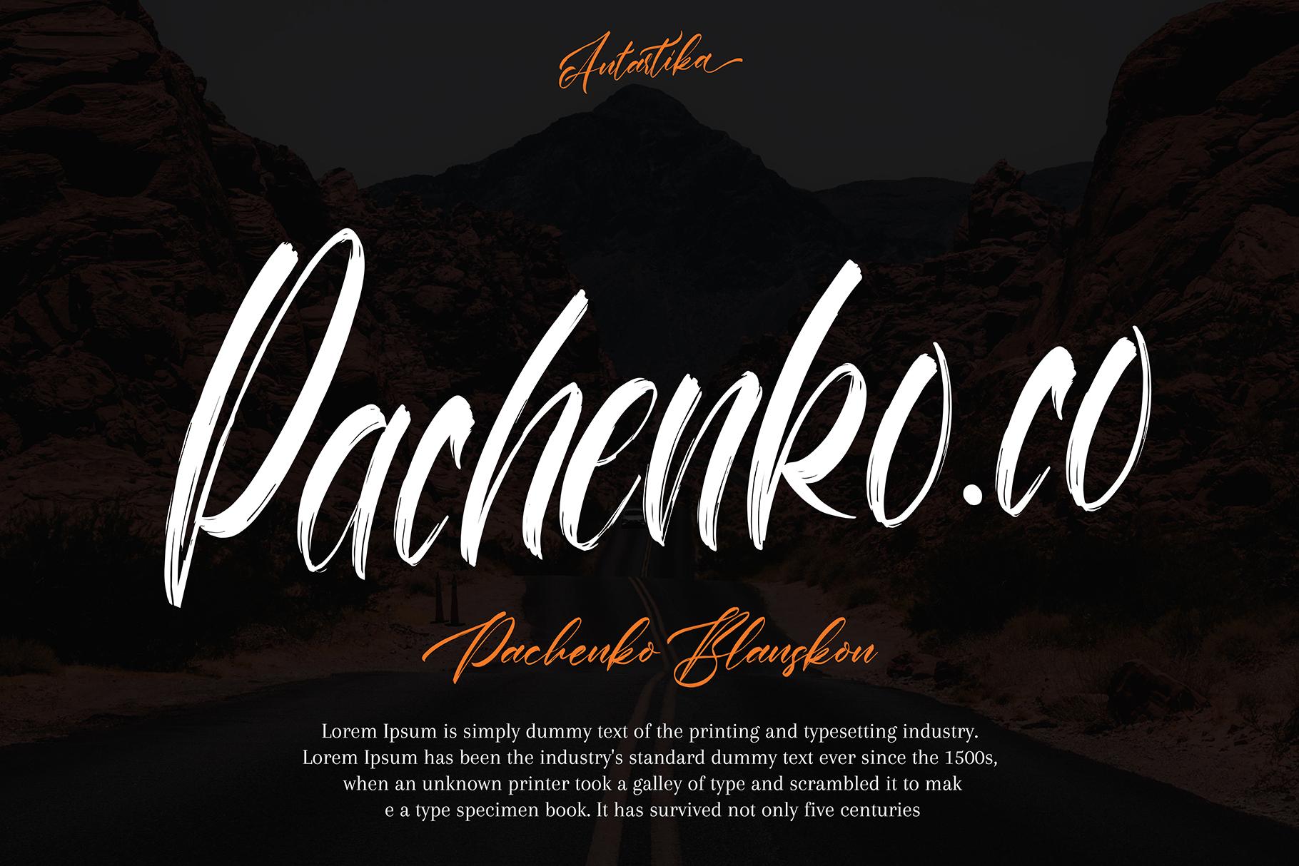 Antartika font Duo example image 2