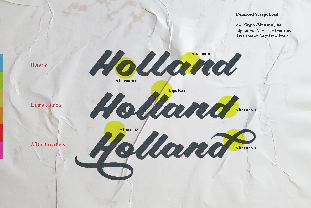 Polaroid Font example image 3