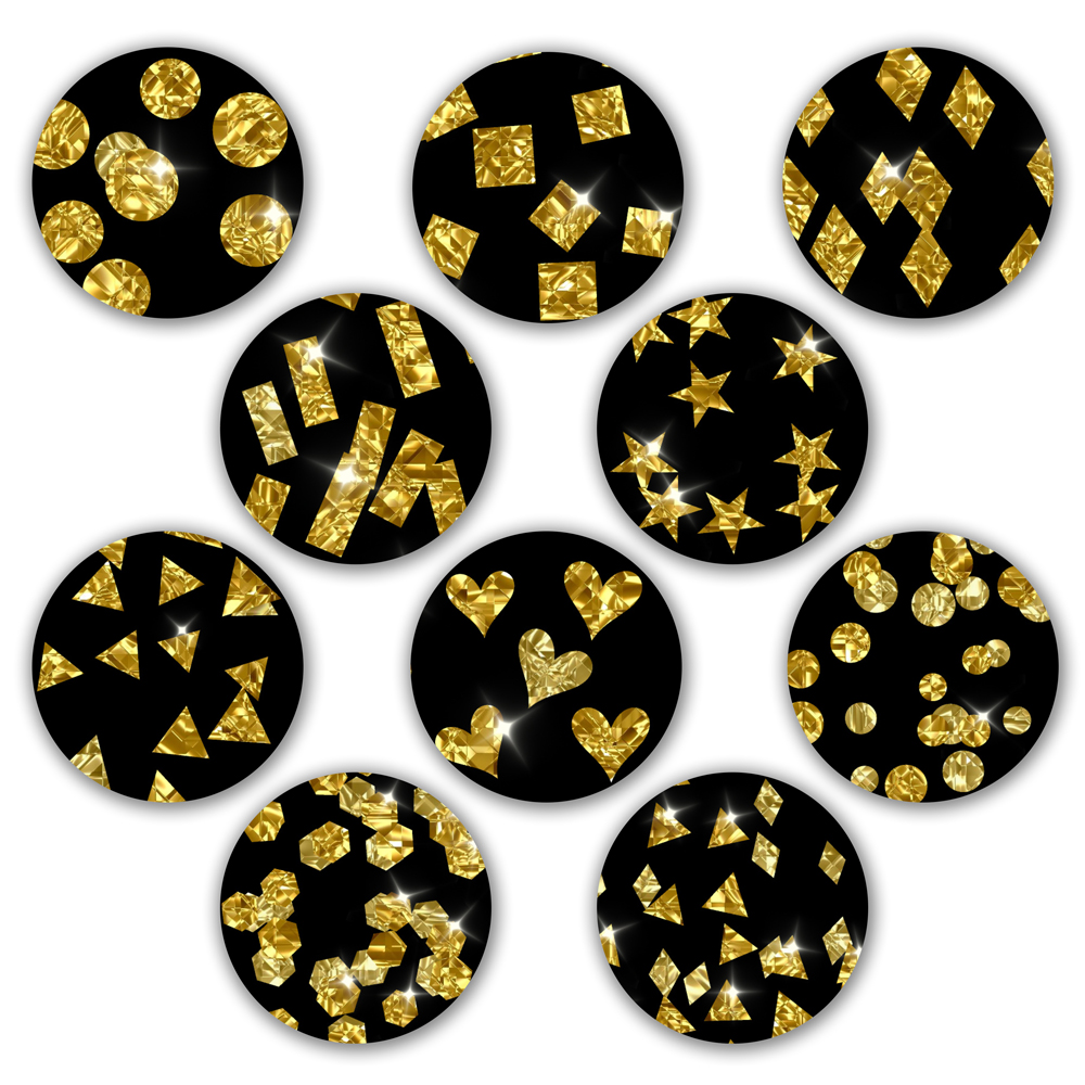Sparkly Gold Confetti example image 3