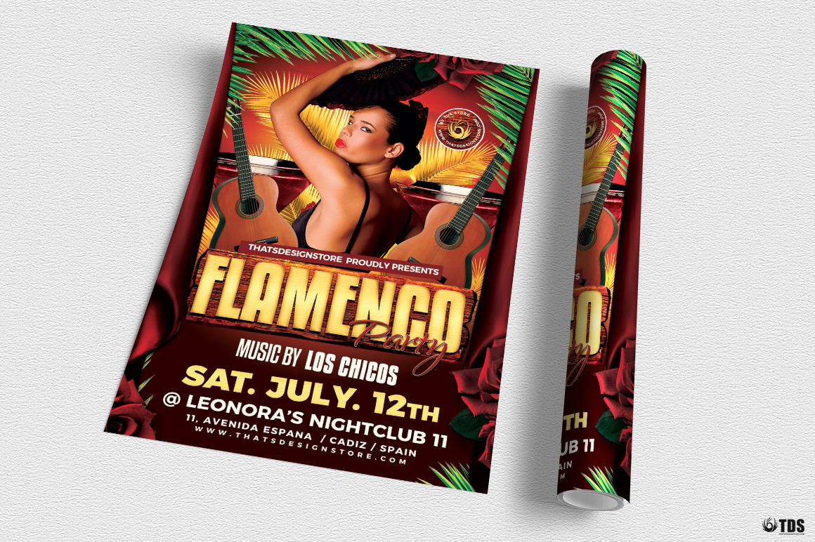 Flamenco Party Flyer Template example image 3