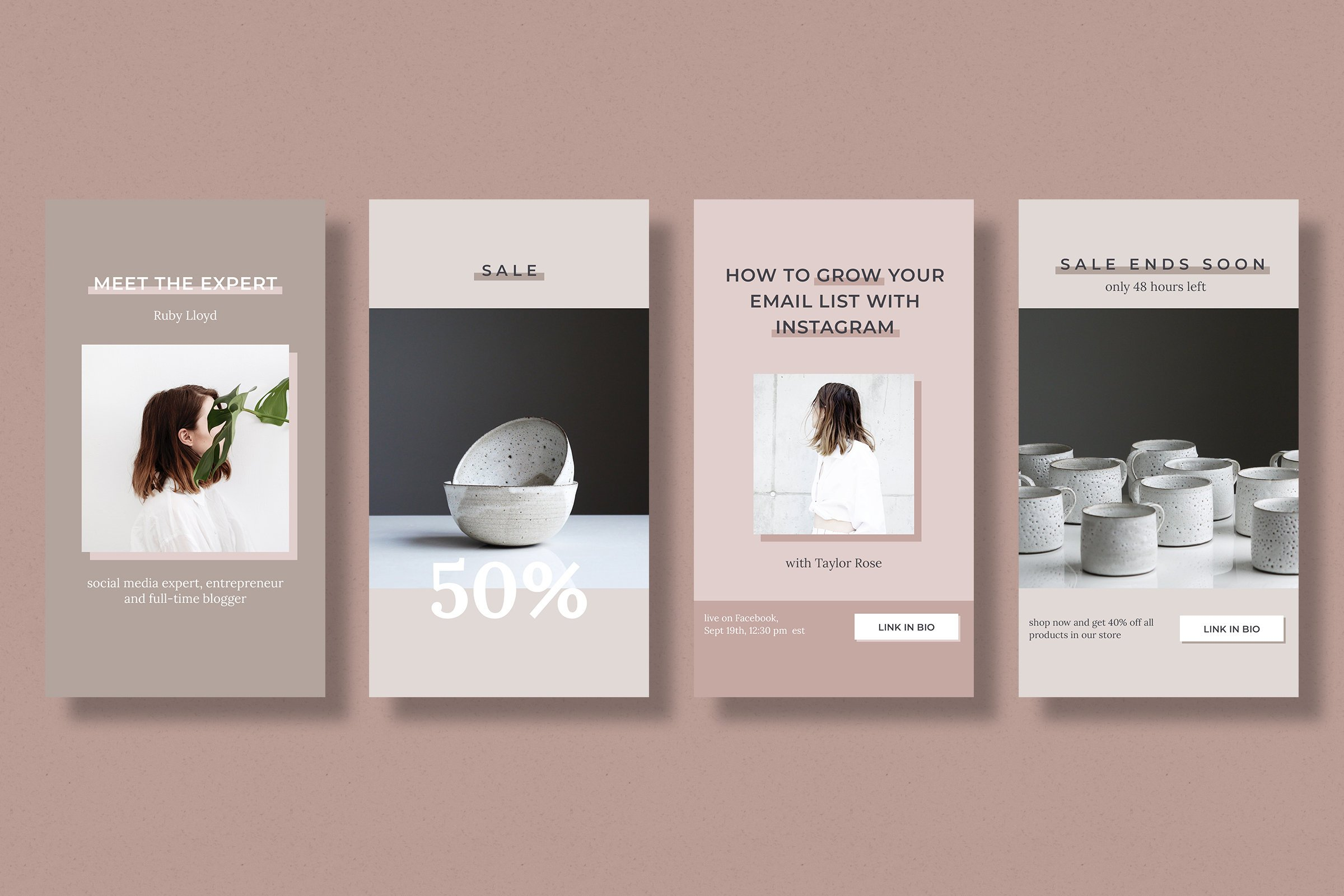 Instagram stories template pack for bloggers example image 6