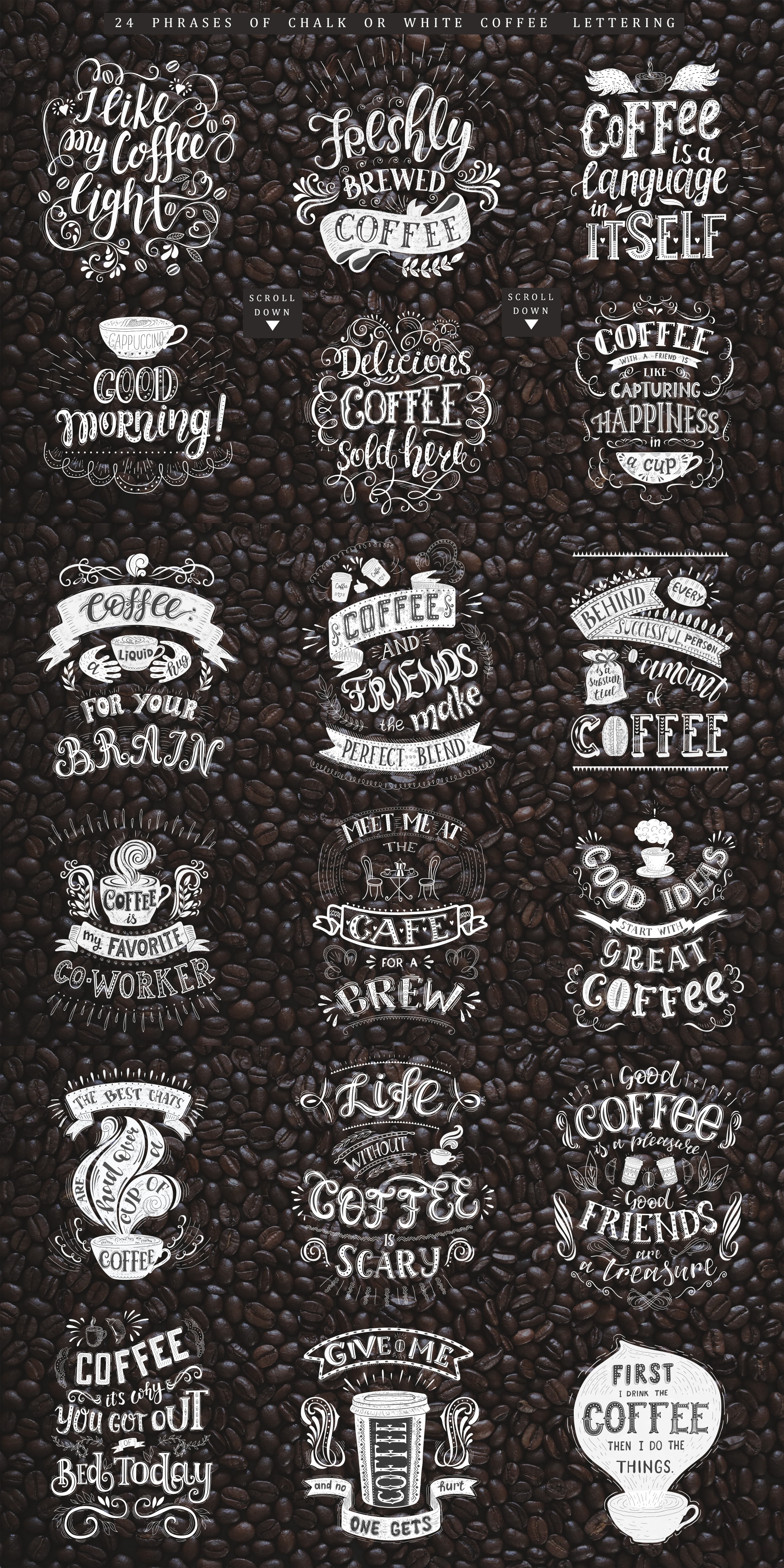 Coffee. Handlettering Quotes. example image 16