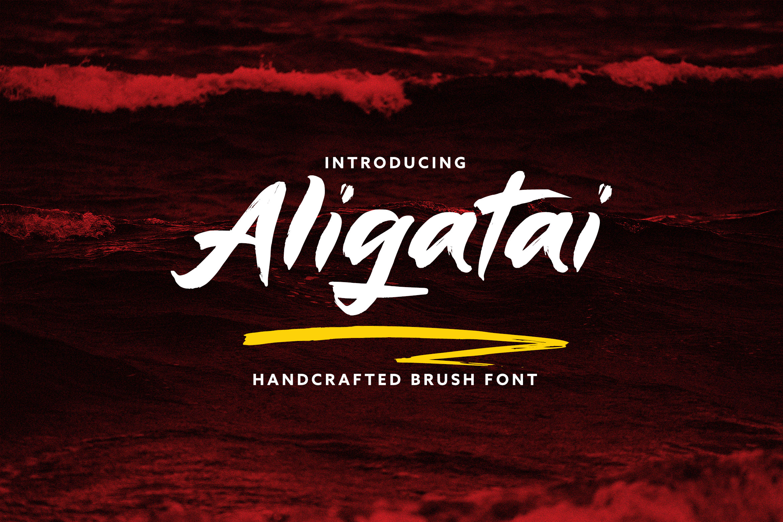 Aligatai Brush Font example image 1