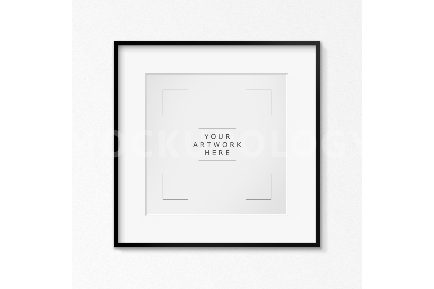 SQUARE Digital Black Frame Mockup, Whit | Design Bundles