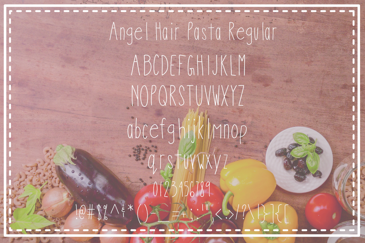 Angel Hair Pasta Font Trio example image 2