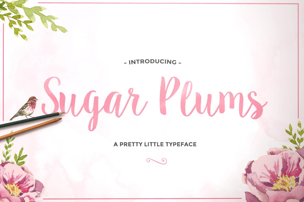 Sugar Plums Script + Doodles example image 1