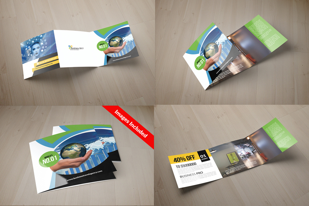 25 Square Trifold Business Brochures Bundle example image 3