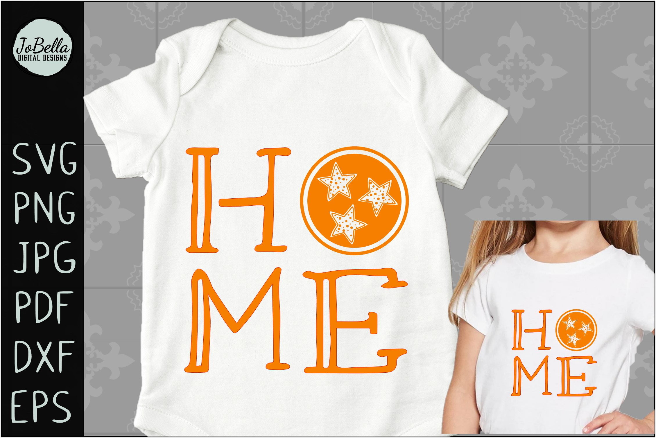 Home with Polka Dot TriStar SVG, Sublimation PNG & Printable example image 2