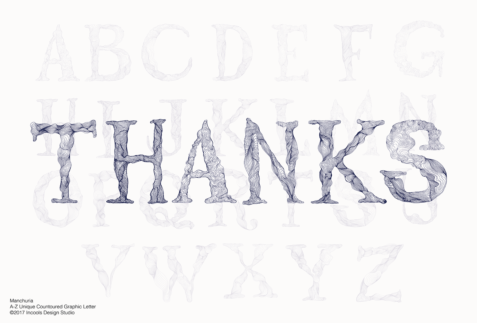Manchuria, A-Z Unique Graphic Letter example image 3